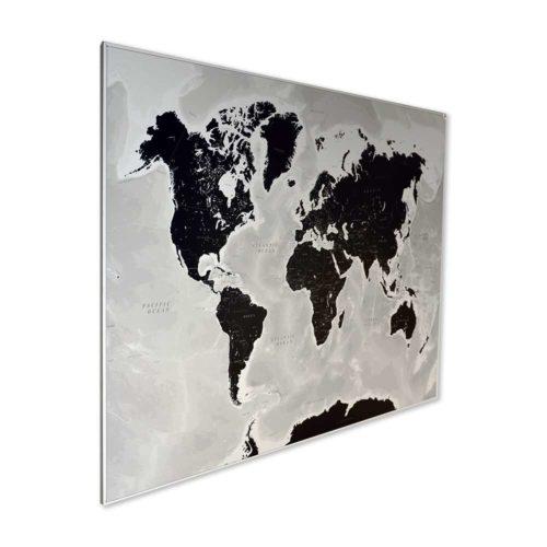 Svart och vit världskarta för vägg