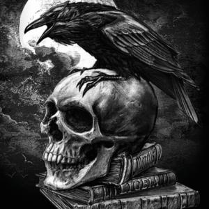 skull-Poster-91.5x61-Skull-Night