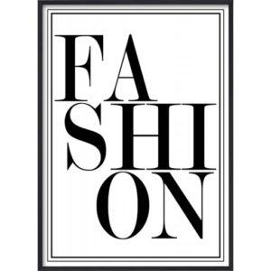 poster-text-mode-svart-vit-fashion_1 Poster 30x40 Text Fashion