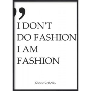 poster-text-coco-chanel-fashion Poster 30x40 Text Coco I Am Fashion