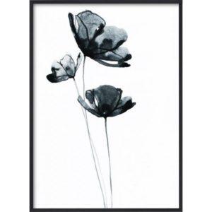 poster-v_xt-blomma-grafiskt_1 Poster 30x40 Blue Flower