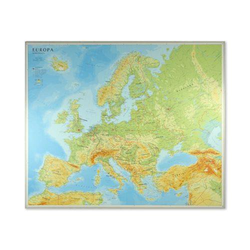Väggkarta Europa för markering med nålar