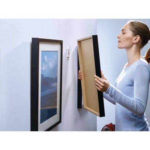 Tesa 2 x 2kg Självhäftande Spik för enkel uppsättning av tavlor. Justerbar för tapet Kartkungen