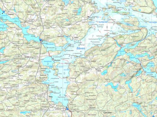 skridskokarta sörmland Båven väst