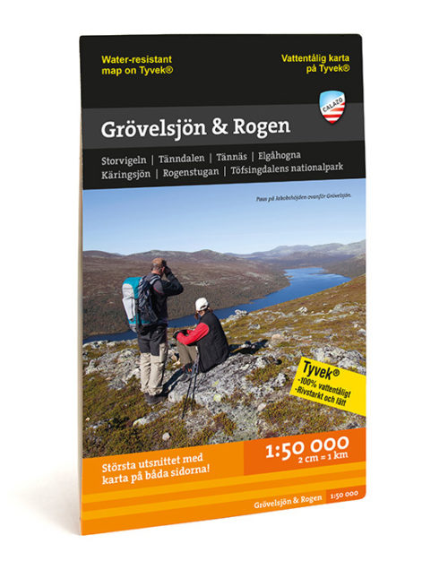 Fjällkarta Grövelsjön & Rogen 9789186773328