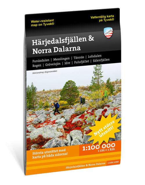 Karta Härjedalsfjällen och Norra Dalarna artikelnummer 97891883352966