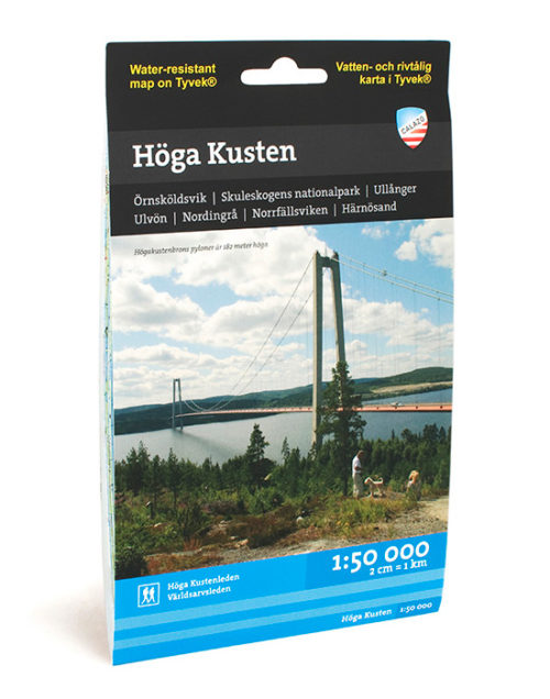 friluftskarta på Höga Kusten karta för vandring och paddling outdoor, hiking map of hoga kusten Sweden