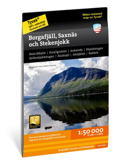 Karta Borgafjäll Saxnäs Stekenjokk Artikelnummer 9789188779984