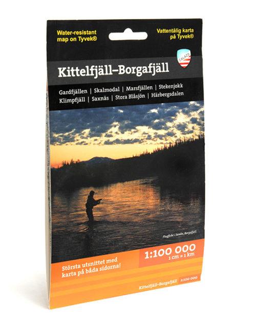 karta Kittelfjäll-Borgafjäll 9789186773045