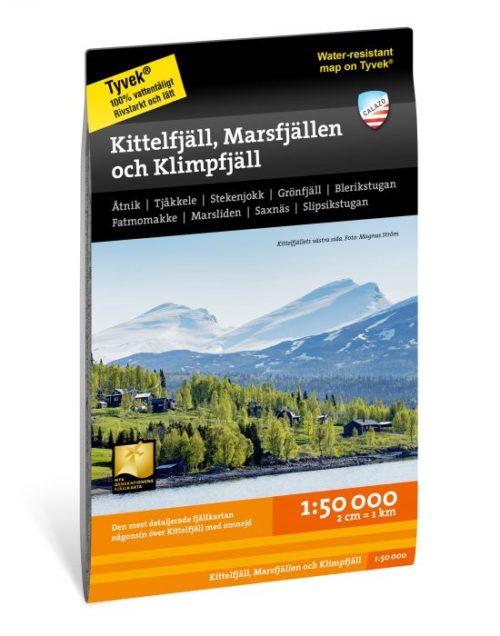 vandringskarta Kittelfjäll Marsfjällen och Klimpfjäll terrängkarta