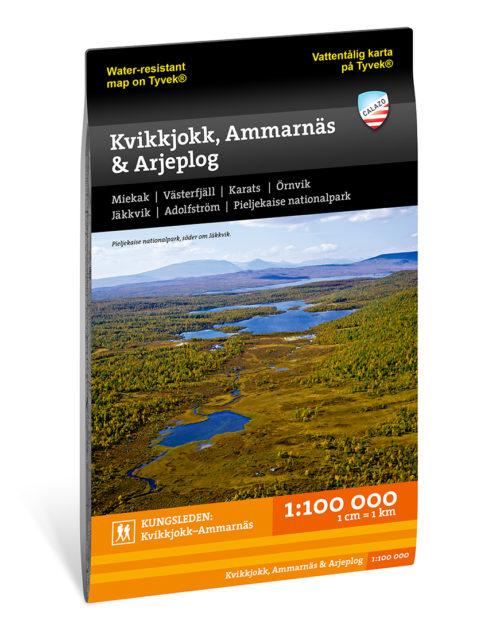 fjällkarta över Kvikkjokk, Ammarnäs & Arjeplog 9789188335258 Calazo