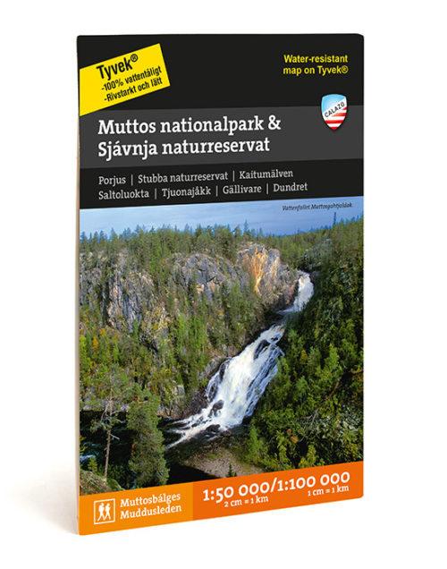 Karta Muddus nationalpark & Sjávnja naturreservat art.nr 9789186773441