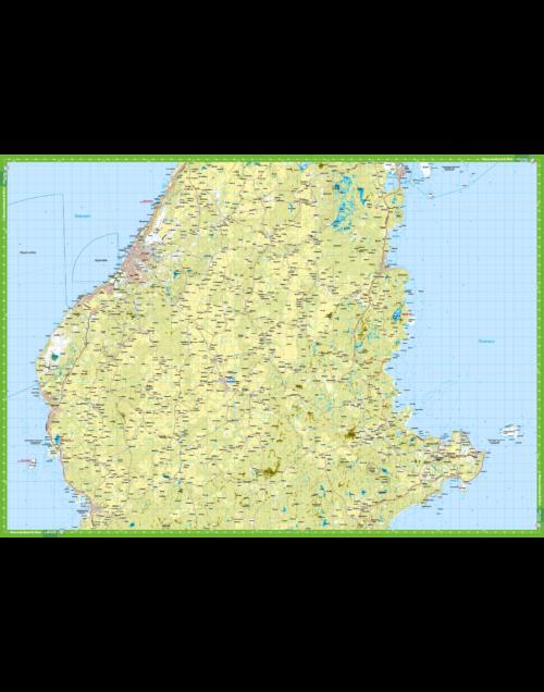 Vandringskarta Karta över Norra Gotland Fårö - Kartkungen