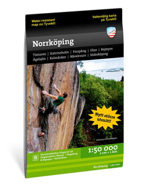 Terrängkarta och vandringskarta Norrköping 9789188335555