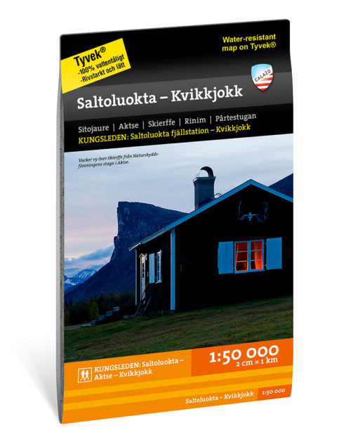 Karta Kungsleden Saltoluokta – Kvikkjokk 9789188335456