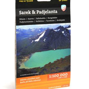 Karta Sarek nationalpark & Padjelanta art.nr 9789186773014