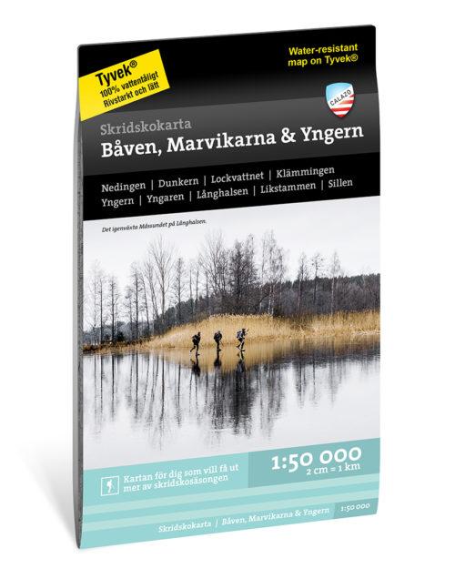 Skridskokarta Båven Marvikarna och Yngern kartkungen