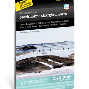 Skridskokarta Stockholms Skärgård norra
