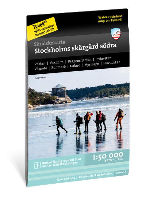 Skridskokarta Stockholms skärgard södra kartkungen