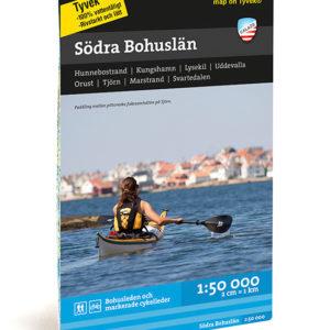 Karta för paddling och kajak över södra Bohuslän Hunnebostrand, kungshamn, lysekil, uddevalla, orust, tjörn, marstrand artikelnummer 9789186773137
