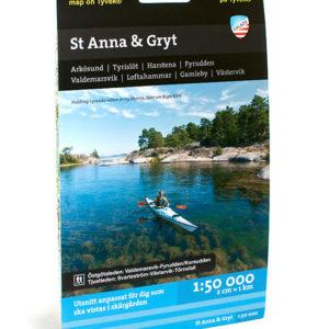Karta St Anna skärgård-Gryt-Östgötaleden tjustleden kartkungen