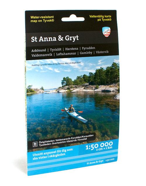 Sjö och kustkarta St Anna skärgård-Gryt-Östgötaleden tjustleden kartkungen