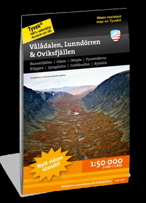 karta Vålådalen Lunndörren och Oviksfjällen 9789188335395