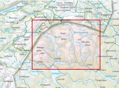 karta Skäckerfjällen & Offerdalsfjällen