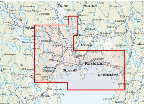 karta sjö karlstad och värmlandsskärgården paddling kajak