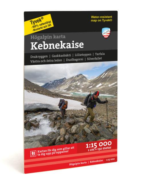 högalpin karta över Kebnekaise art.nr 9789188335357