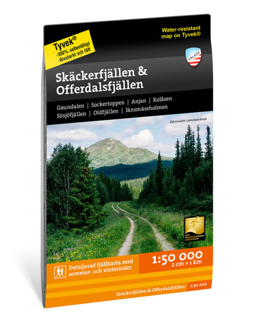 Karta Skäckerfjällen & Offerdalsfjällen 9789188335593