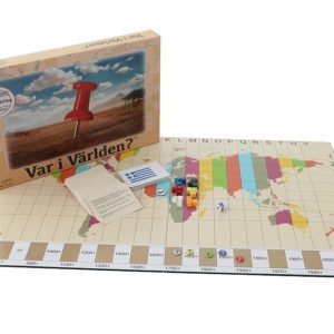 Sällskapsspel för resan Var i världen Kartkungen