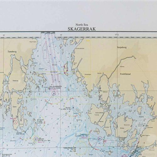 Skagerrak sjökort för vägg