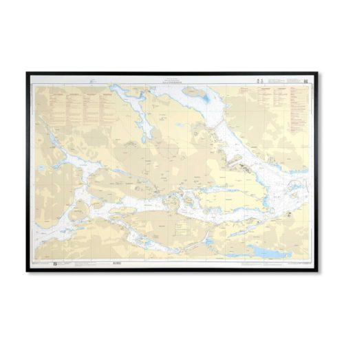Inramat sjökort över Port of Stockholm där ni kan märka ut med nålar vart ni har rest eller vill resa. Eller kanske bara som en fin tavla? Handgjord ram.