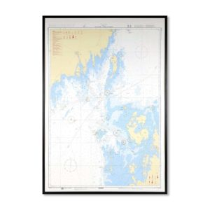 Inramat sjökort över norra kvarken från Sjöfartsverket att hänga på väggen, där ni kan märka ut med nålar vart ni har rest eller vill resa. En fin tavla som aldrig går ur tiden. Levereras med handgjord ram.