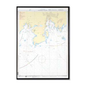 Inramat sjökort specialkort 7421 för vägg Karlshamn-Stilleryd-INT1327SE7421-01