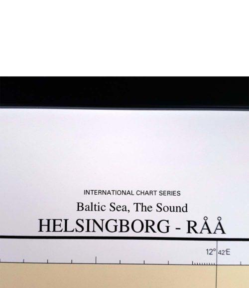 Sjökort med ram över Helsingborg-Råå