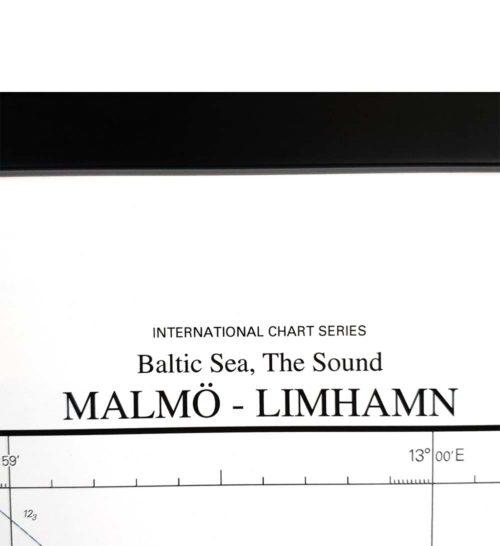 Sjökort Malmö- limhamn för vägg