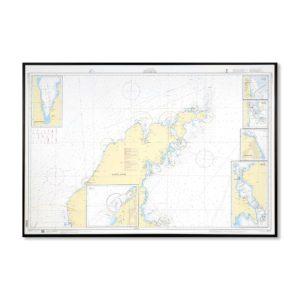 Sjökort 731 Skärgårdskort-med-ram-Gotland-Norra-SE731-01