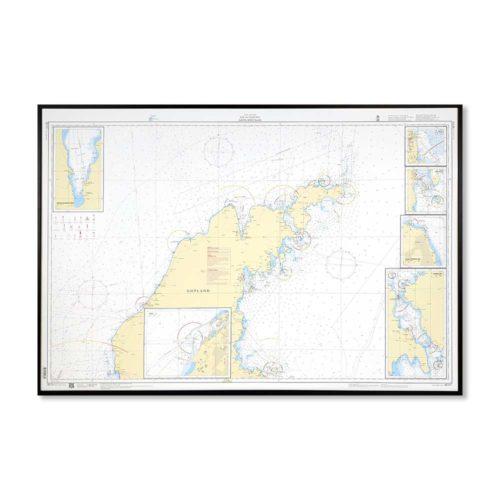 Sjökort-med-ram-Gotland-Norra-SE731-01