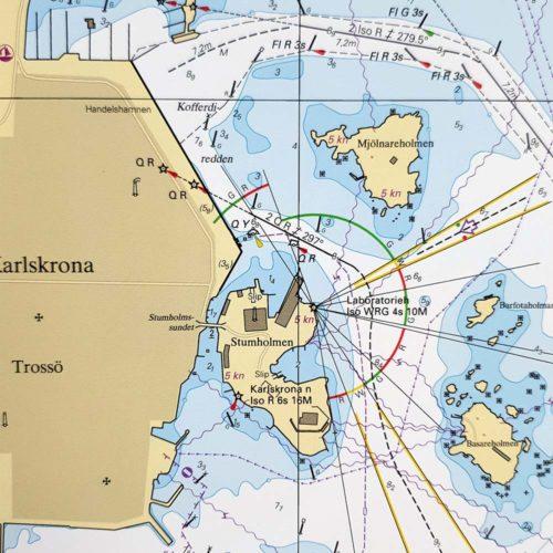 Sjökort-med-ram-Karlskrona-Ronneby