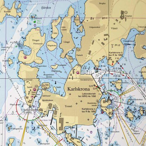 Sjökort-med-ram-Karlskrona-Utlängan-INT1329SE7411-01