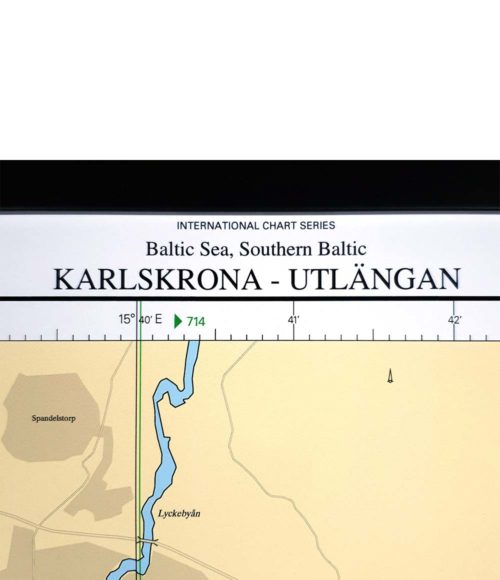 inramt sjökort Karlskrona