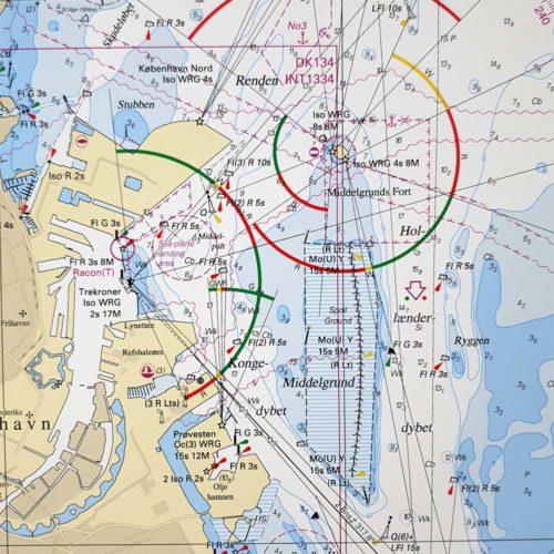 Inramat-sjökort-Öresund-södra-köpenhamn