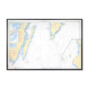 Inramat sjökort-kustkort-71-Utlängan-Öland-Gotland-Södra-INT1203SE71