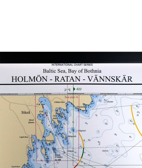 Inramat-sjökort-holmön-ratan-vännskär-INT1783SE511-03