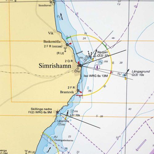 Sjökort-Östersjön-Helsingborg-Ölands-simrishamn Södra-Udde-SE74