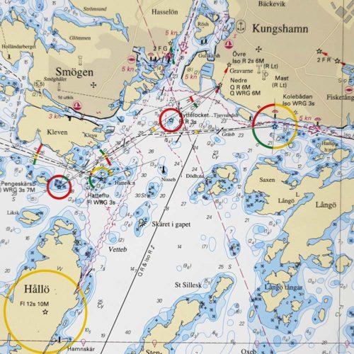 Sjökort för vägg Nordsjön Skagerrak-Brofjorden