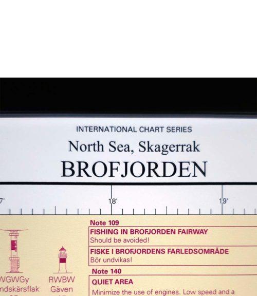inramat sjökort Brofjorden