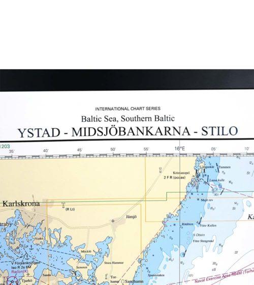 Sjökort-Ystad-Midsjöbankarna-Stilo-med ram INT1202SE83-03